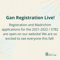 Gan Registration Live!